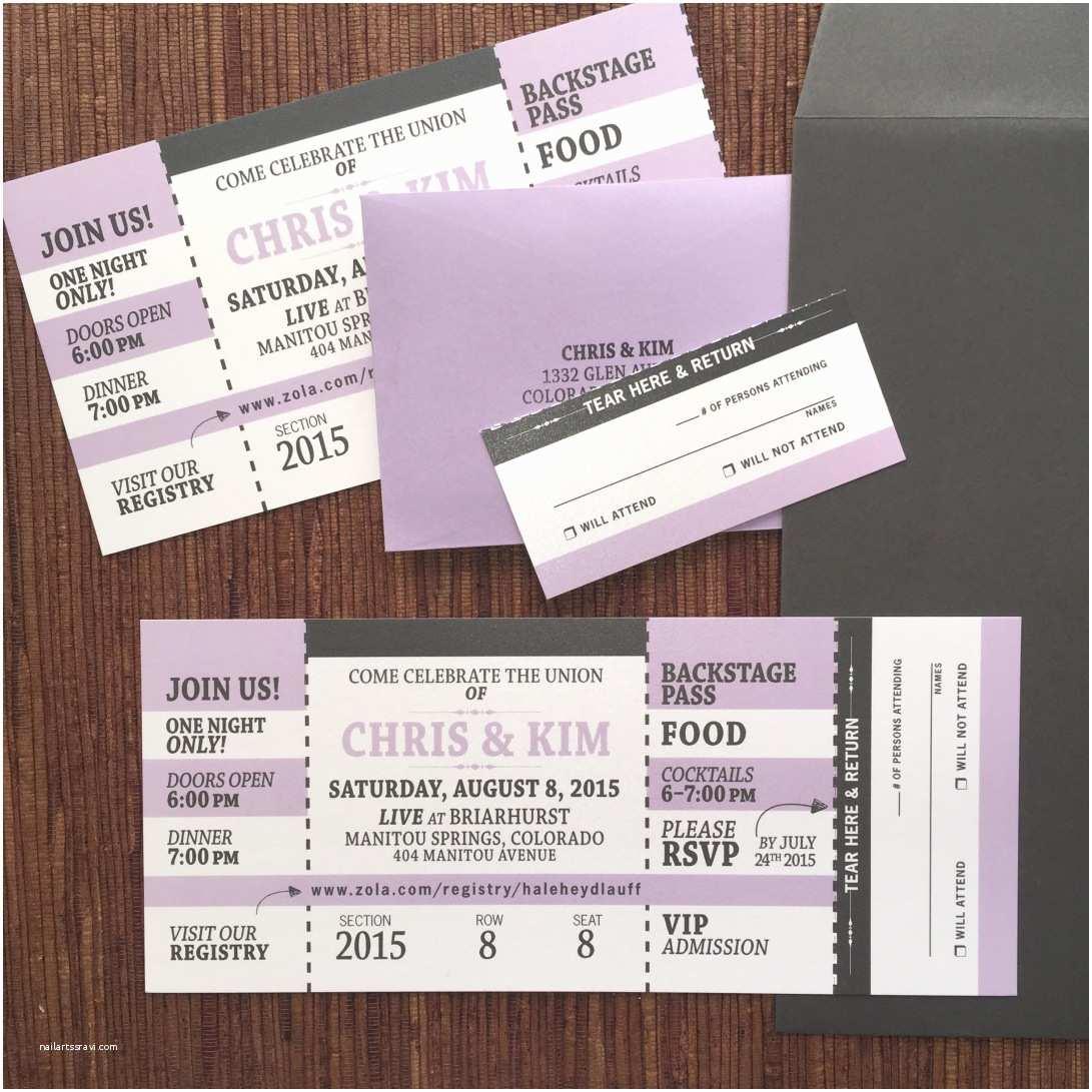 Concert Ticket Wedding Invitation Tickets Sport Concert Travel – Papercake Designs