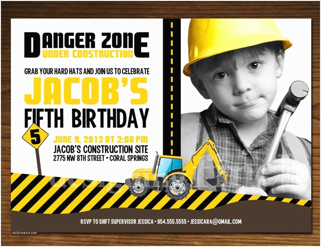 Construction Birthday Invitations Construction Birthday Invitations Ideas – Bagvania Free