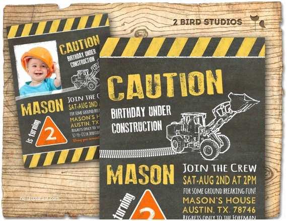 Construction Birthday Invitations Construction Invitation In Chalkboard Optional Construction