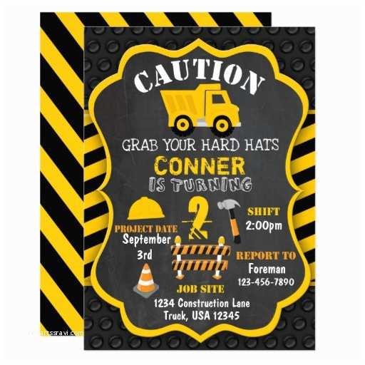 Construction Birthday Party Invitations Construction Birthday Invitation Dump Truck