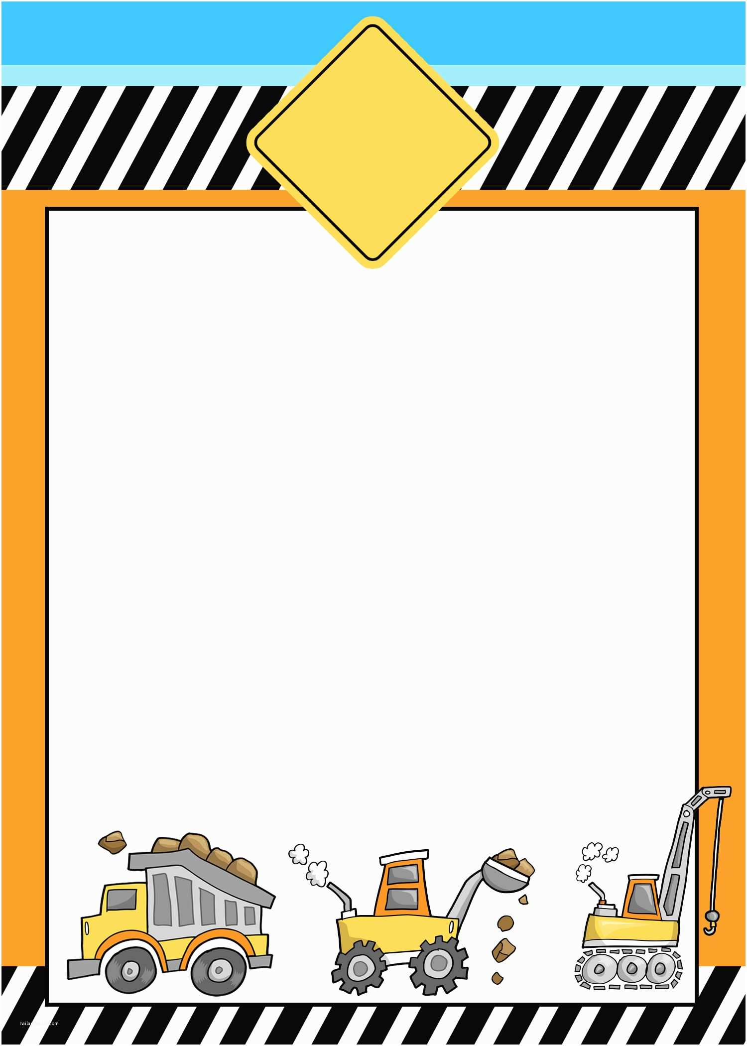 Construction Birthday Party Invitations Construction themed Birthday Party with Free Printables