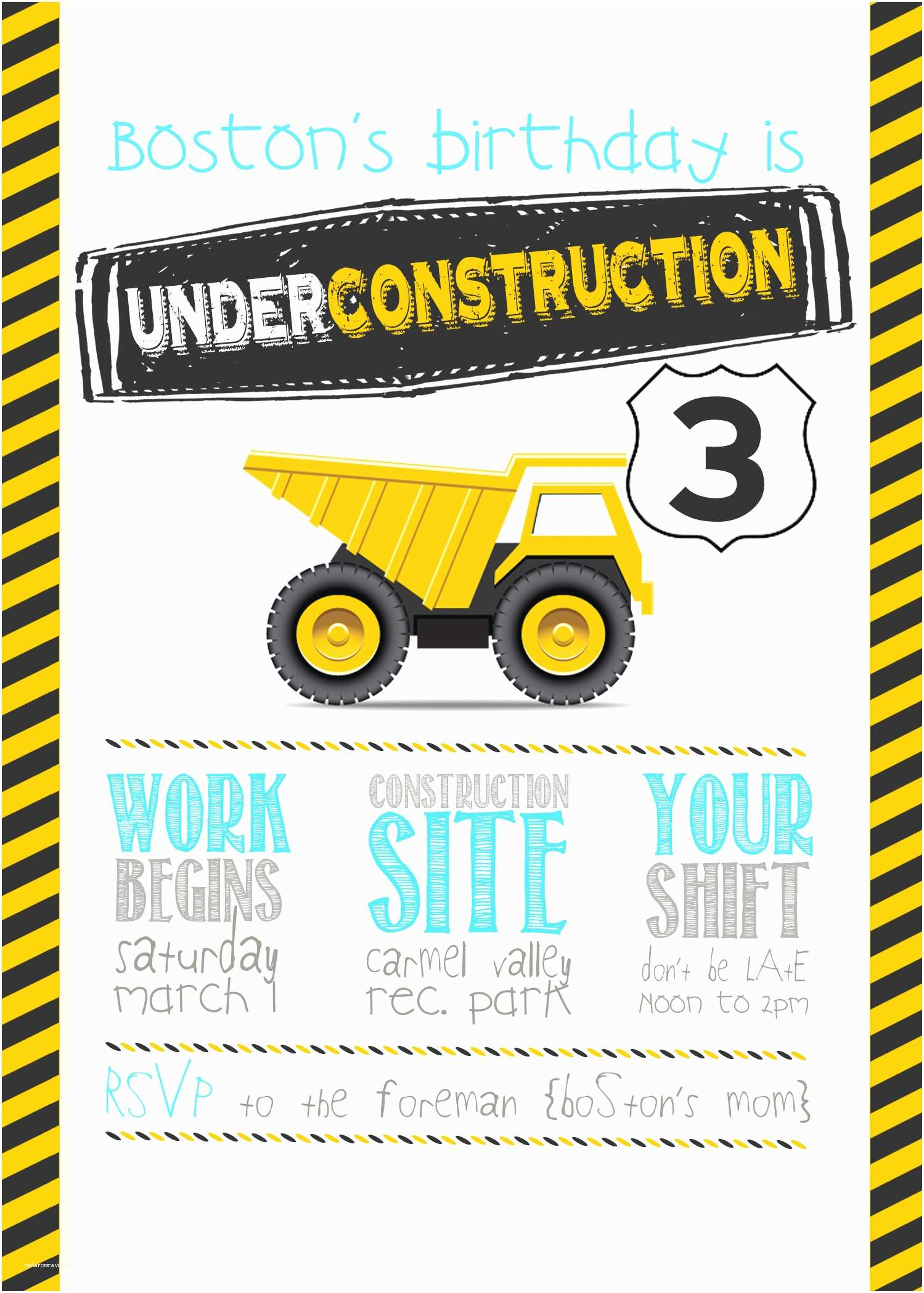 Construction Birthday Party Invitations This Construction Birthday Party Will Go Down as E