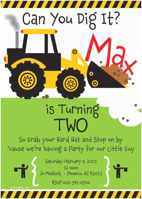 Construction Party Invitations 25 Best Ideas About Construction Party Invitations
