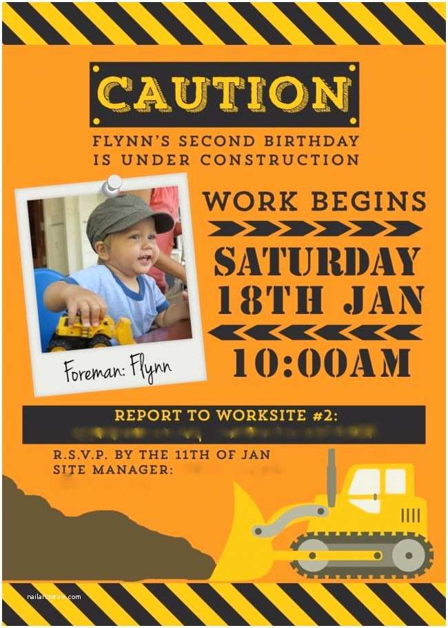 Construction Party Invitations 25 Best Ideas About Construction Party Invitations On