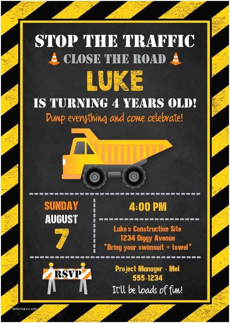 Construction Party Invitations Best 25 Construction Birthday Invitations Ideas