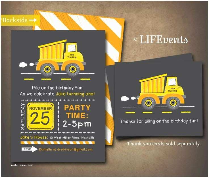 Construction Party Invitations Best 25 Construction Birthday Invitations Ideas On