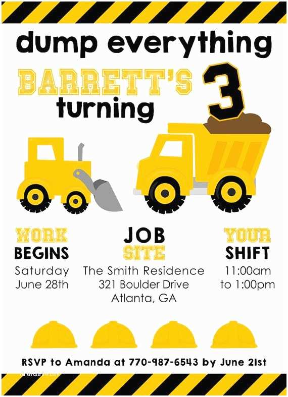 Construction Party Invitations Best 25 Construction Birthday Parties Ideas On