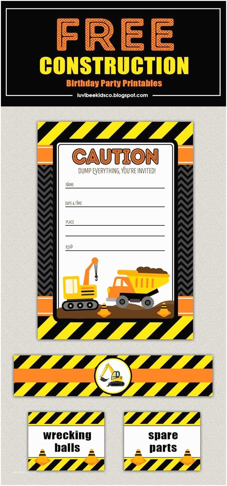Construction Party Invitations Best 25 Construction Invitations Ideas On