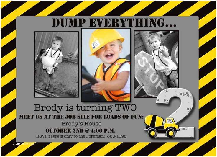 Construction Party Invitations Best 25 Construction Party Invitations Ideas On