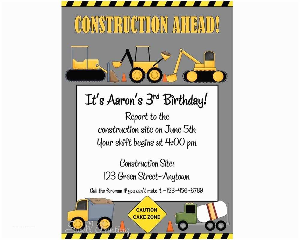 Construction Party Invitations  Party Invitations Elegant Construction