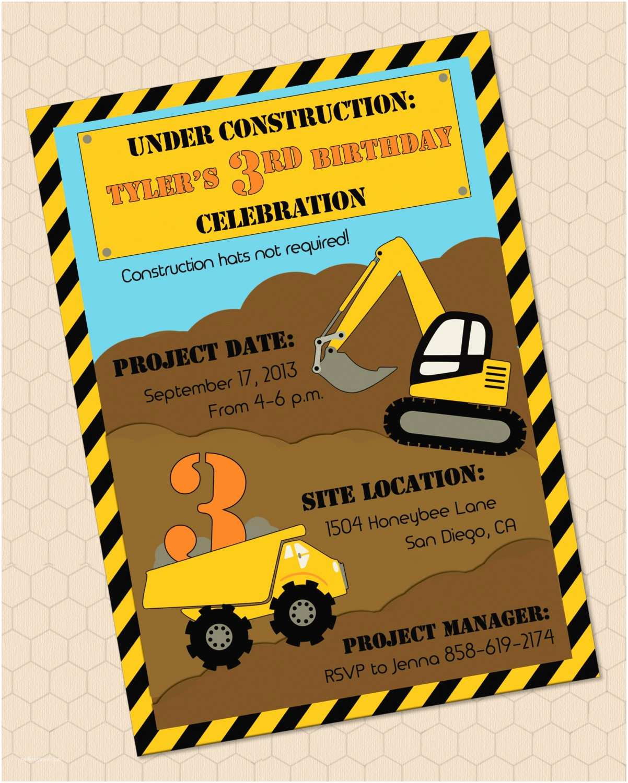 Construction Party Invitations Chandeliers & Pendant