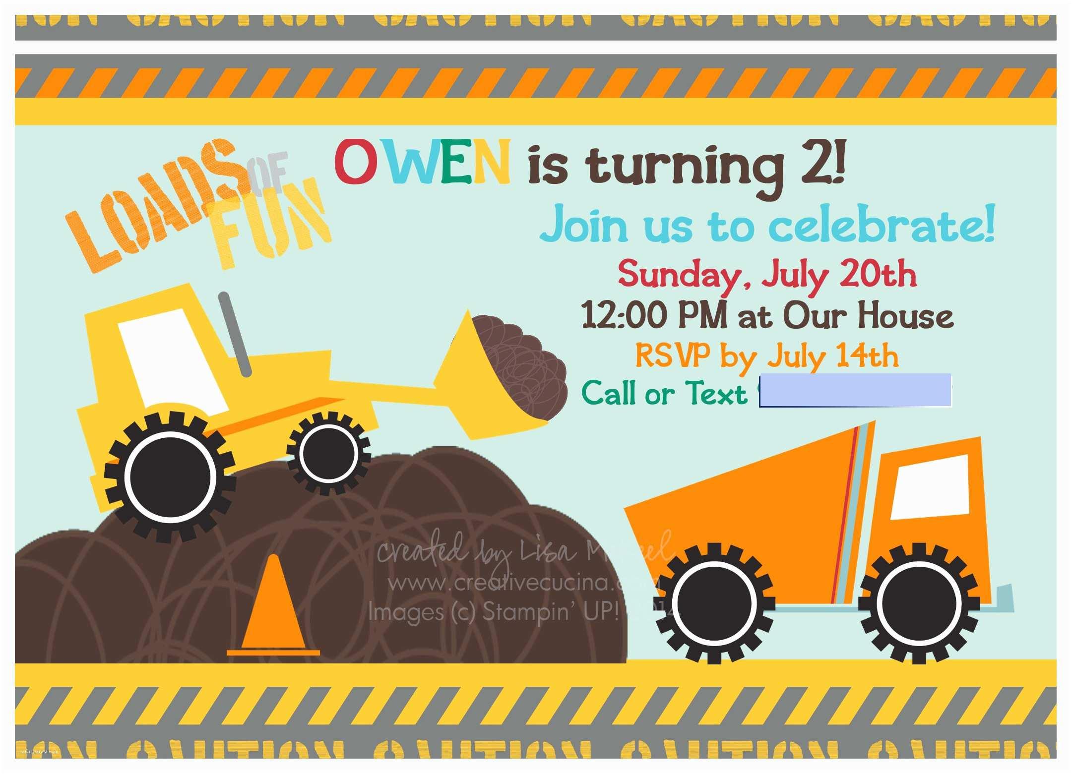 Construction Party Invitations Construction Birthday Invitations –
