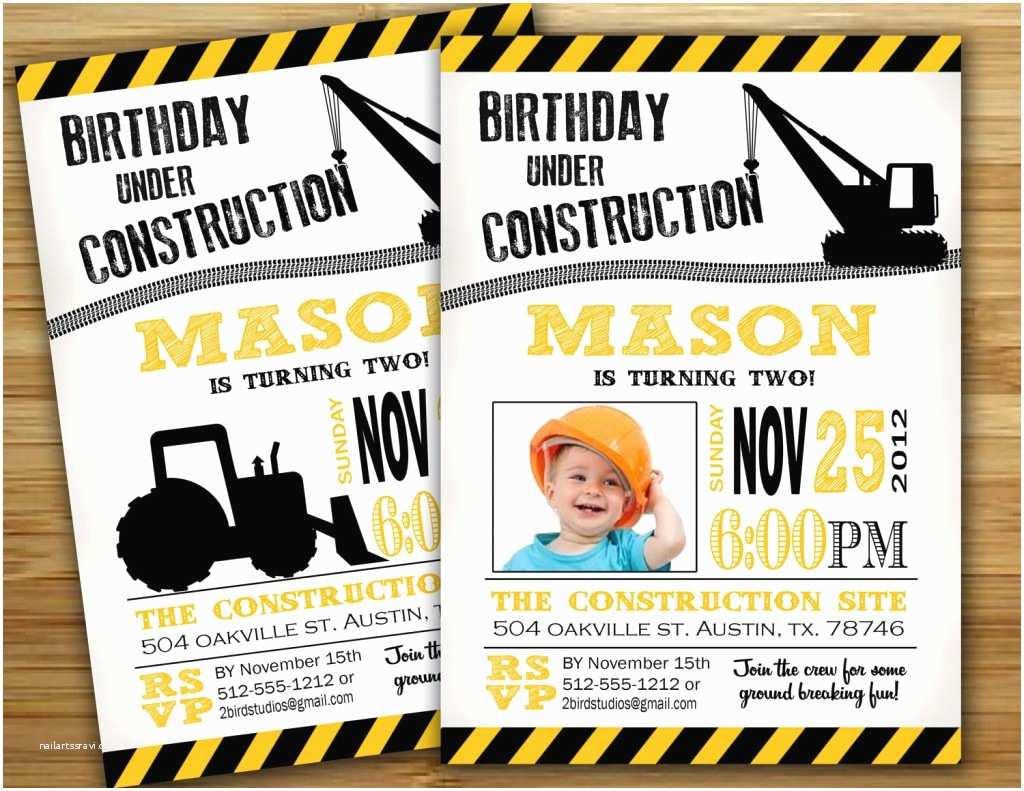 Construction Party Invitations Construction Birthday Invitations Ideas – Bagvania