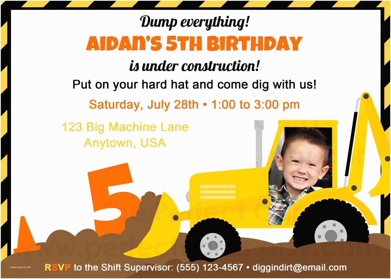 Construction Party Invitations Construction Birthday Party Invitation