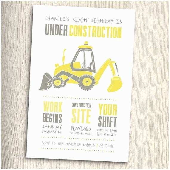 Construction Party Invitations Construction Birthday Party Invitation With Matching
