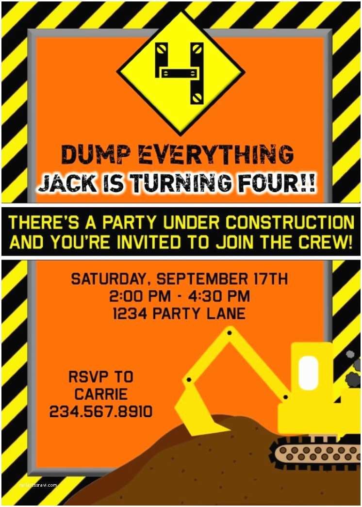 Construction Party Invitations top 10 Construction Party theme Games Ideas and