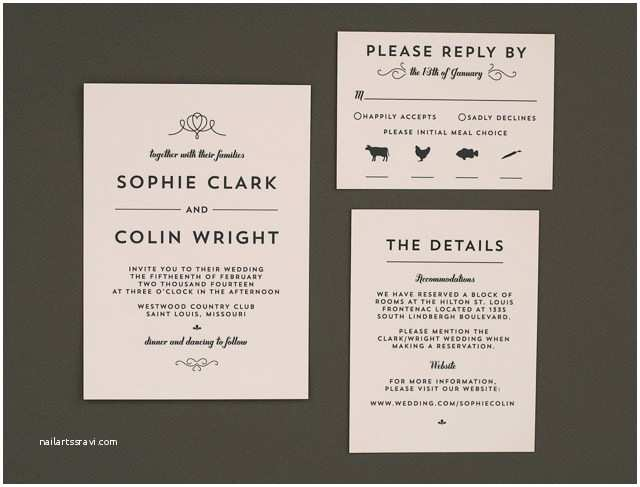 crafty pie press modern vintage wedding invitations