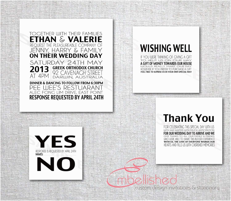 Contemporary Wedding Invitation Wording Modern Wedding Invitation Printable New York by