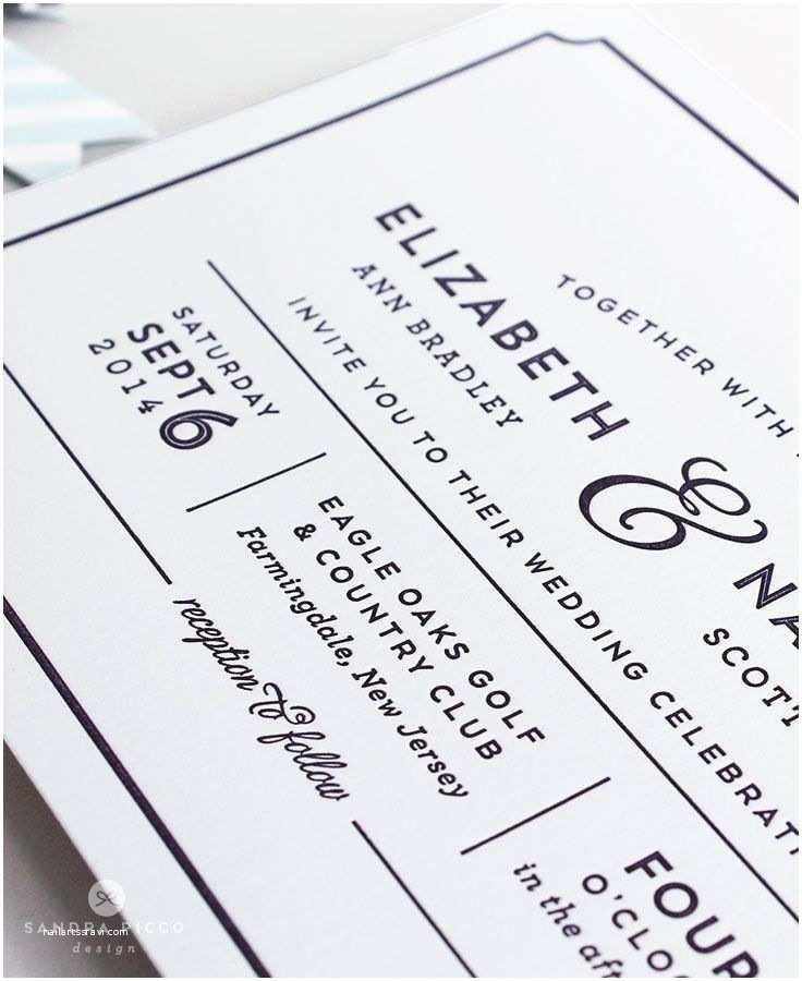 Contemporary Wedding Invitations Caroline Modern Wedding Invitation In Flat Print or