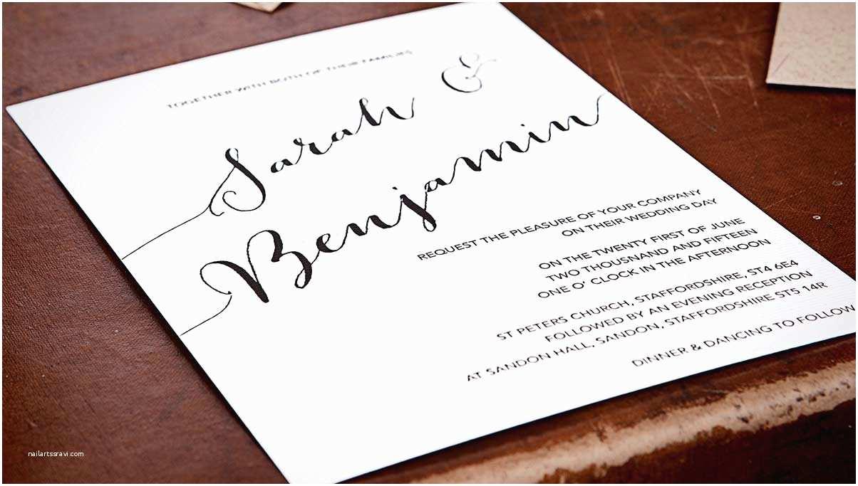 Contemporary Wedding Invitations Contemporary Wedding Invitation