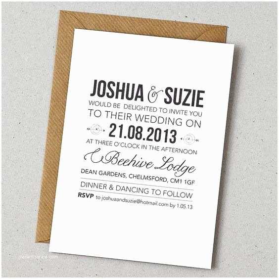 Contemporary Wedding Invitations Mesmerizing Contemporary Joshua and Suzie Wedding