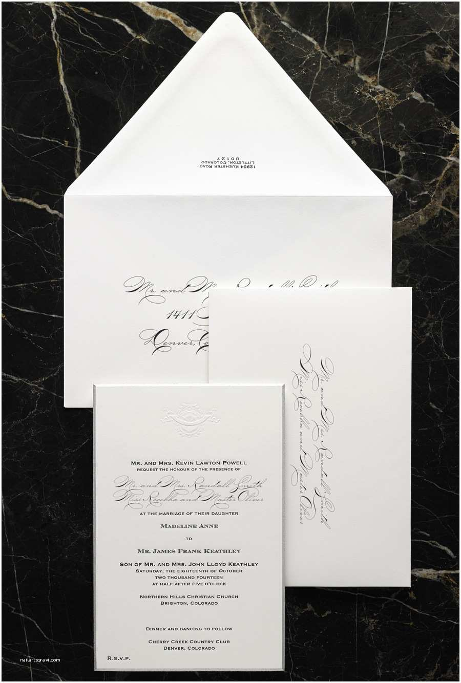 Contemporary Wedding Invitations Modern formal Wedding Invitation Design Etiquette
