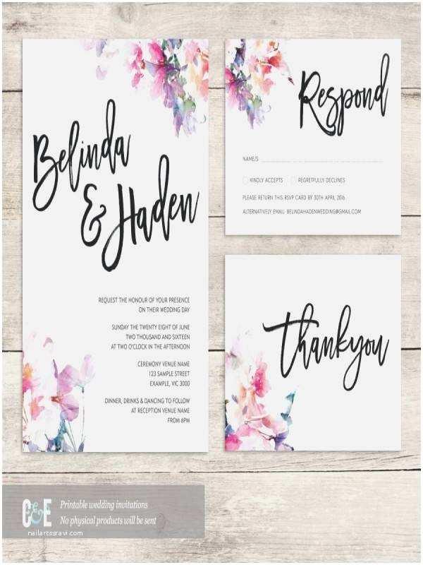 Contemporary Wedding Invitations Modern Wedding Invitation