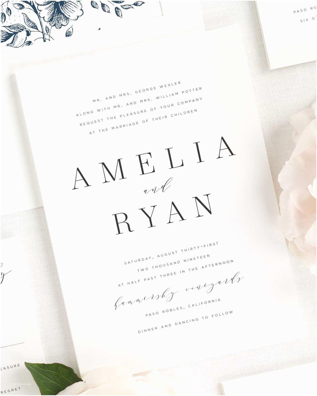 Contemporary Wedding Invitations Modern Wedding Invitation To Pin On