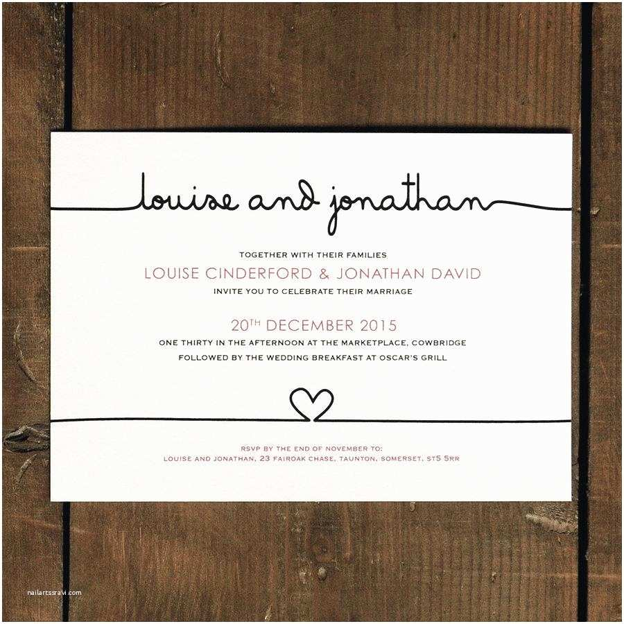 Contemporary Wedding Invitations Modern Wedding Invitation Wording