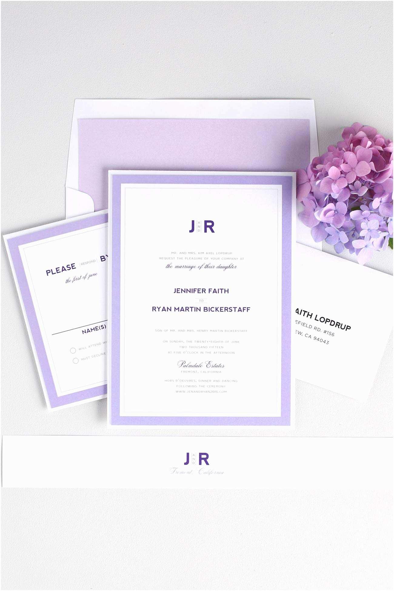 Contemporary Wedding  Modern Wedding  In Purple – Wedding