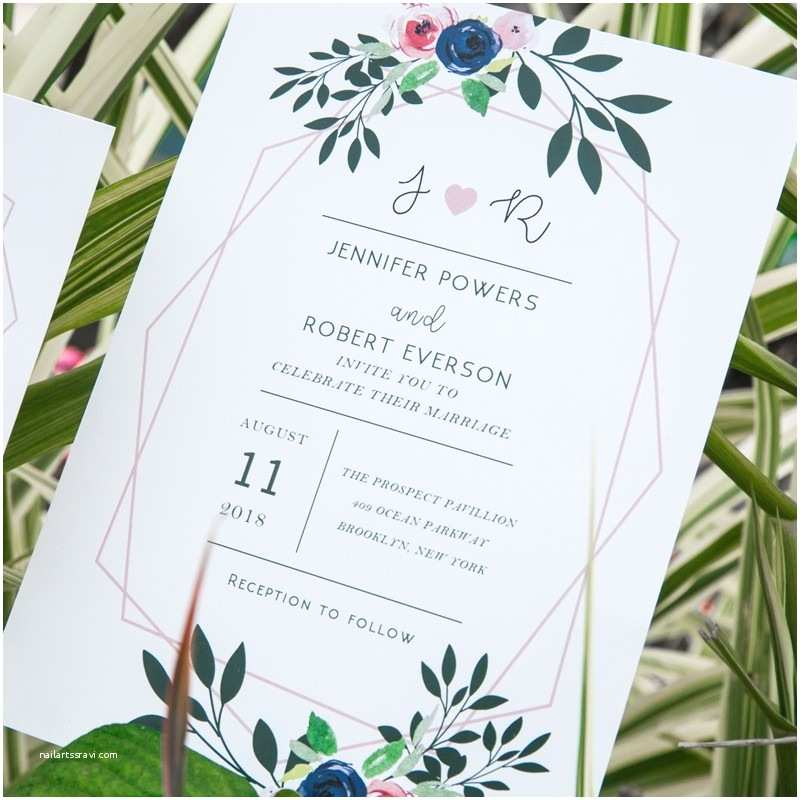 Contemporary Wedding Invitations Modern Wedding Invitations