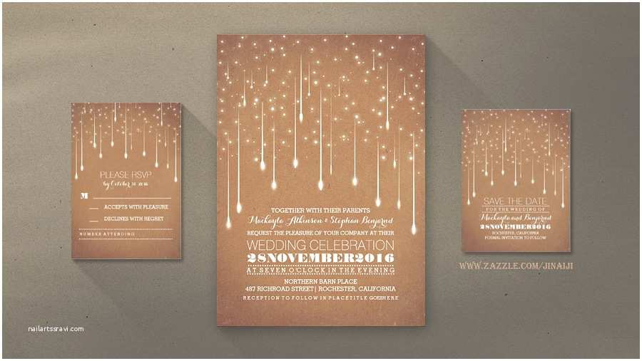 Contemporary Wedding Invitations Read More – Modern Wedding Invitation with Strings Of