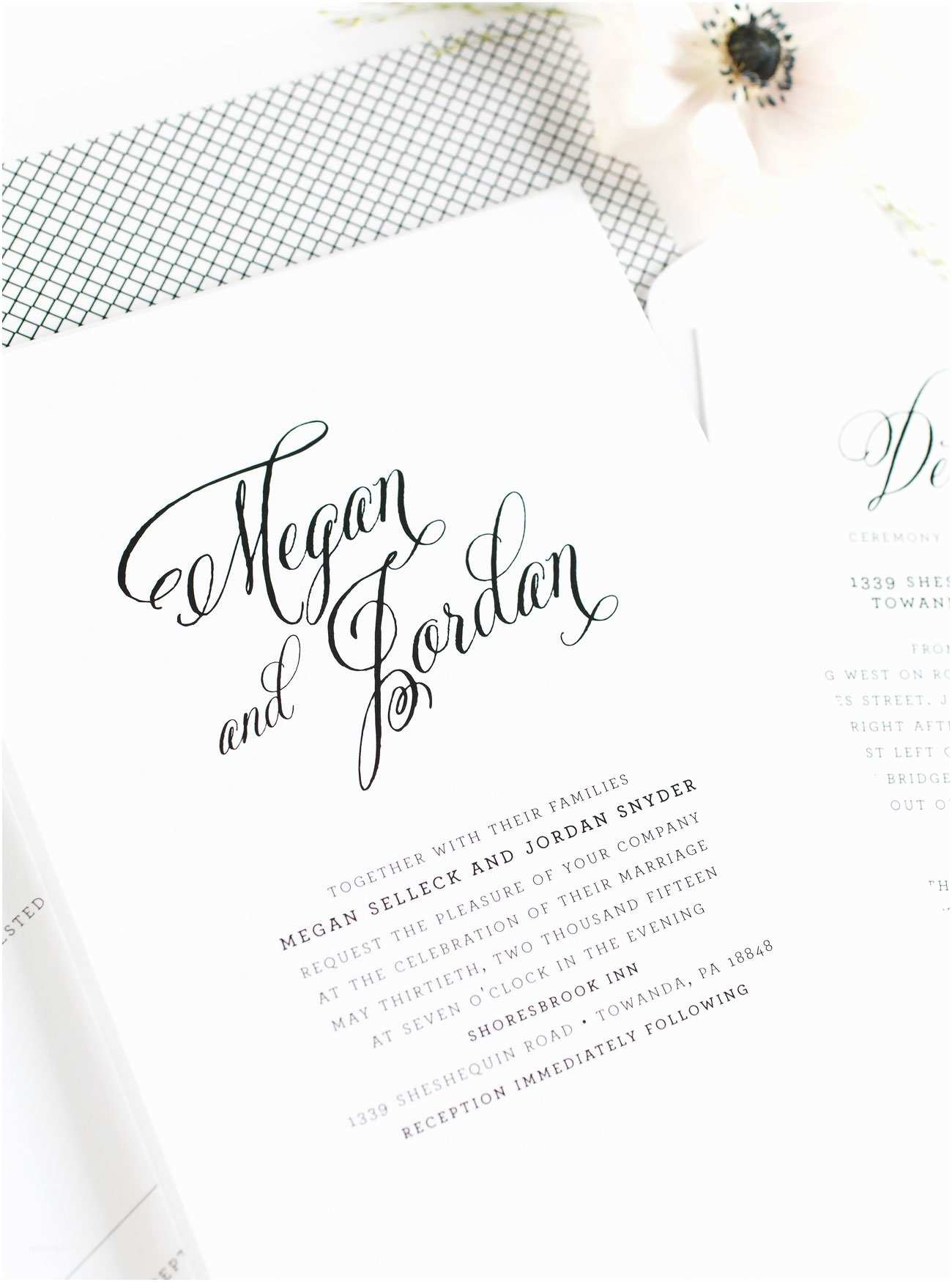Contemporary Wedding Invitations Rustic Modern Invitations – Wedding Invitations