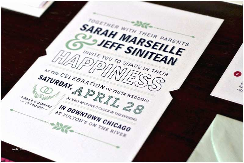 Contemporary Wedding Invitations Sarah Jeff S Modern Wedding Invitations and Save the