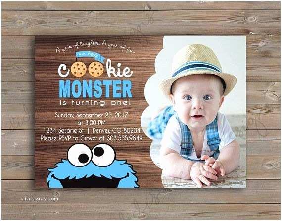 Cookie Monster Birthday Invitations Best 25 Monster Birthday Invitations Ideas On Pinterest