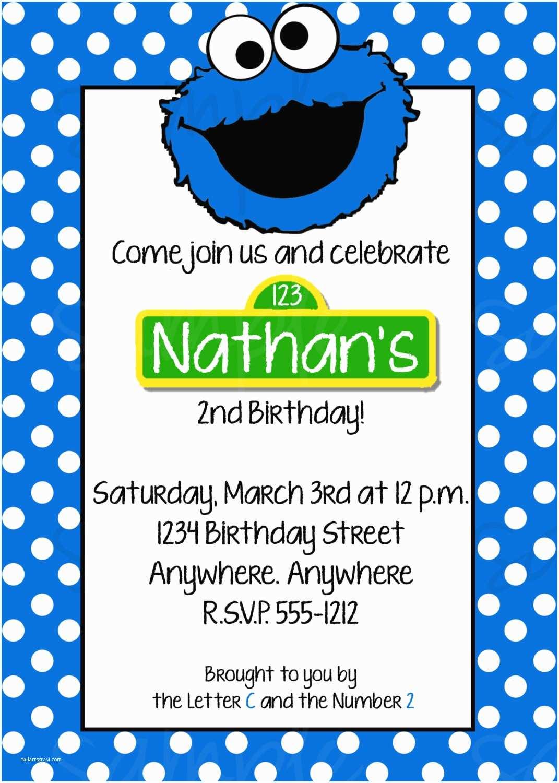Cookie Monster Birthday Invitations Cookie Monster Birthday Invitation