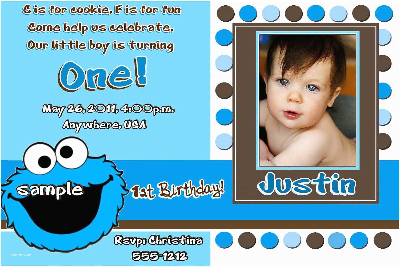 Cookie Monster Birthday Invitations Cookie Monster Birthday Invitations