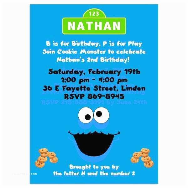 Cookie Monster Birthday Invitations Cookie Monster Invitation Template A Birthday Cake