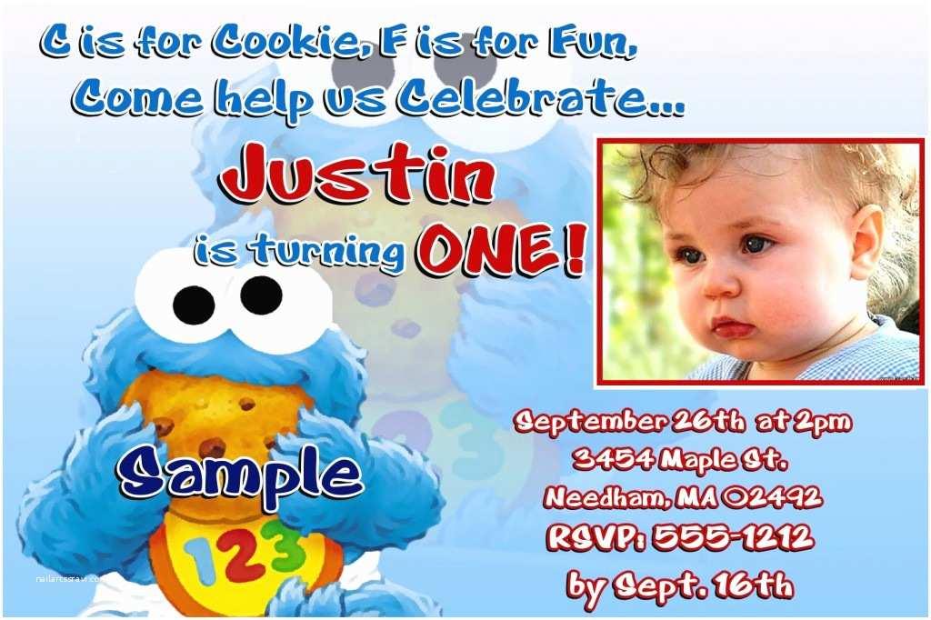 Cookie Monster Birthday Invitations Monster Birthday Invitations Ideas – Bagvania Free