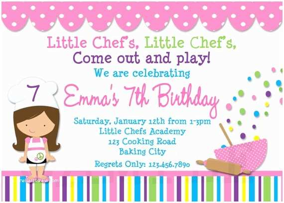 Cooking Party Invitations 17 Best Images About Mia S Birthday On Pinterest