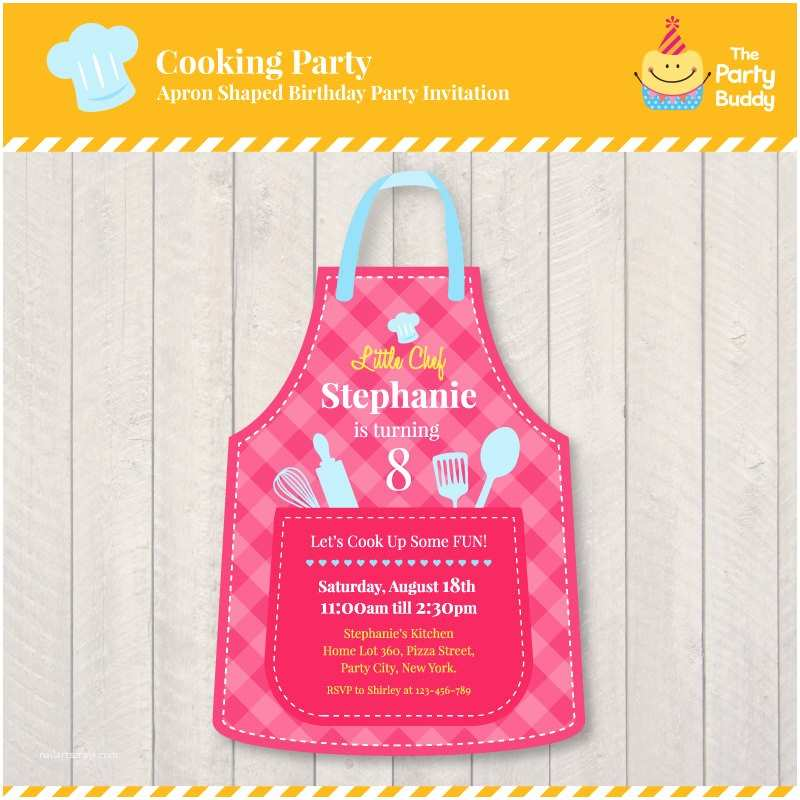 Cooking Party Invitations Cooking Party Birthday Invitation Design Girls Little Chef