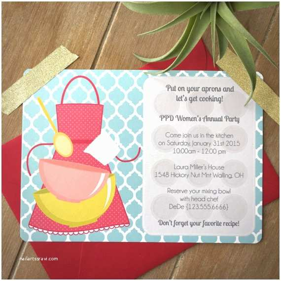 Cooking Party Invitations Cooking Party Invitation Child Cooking Birthday Party by