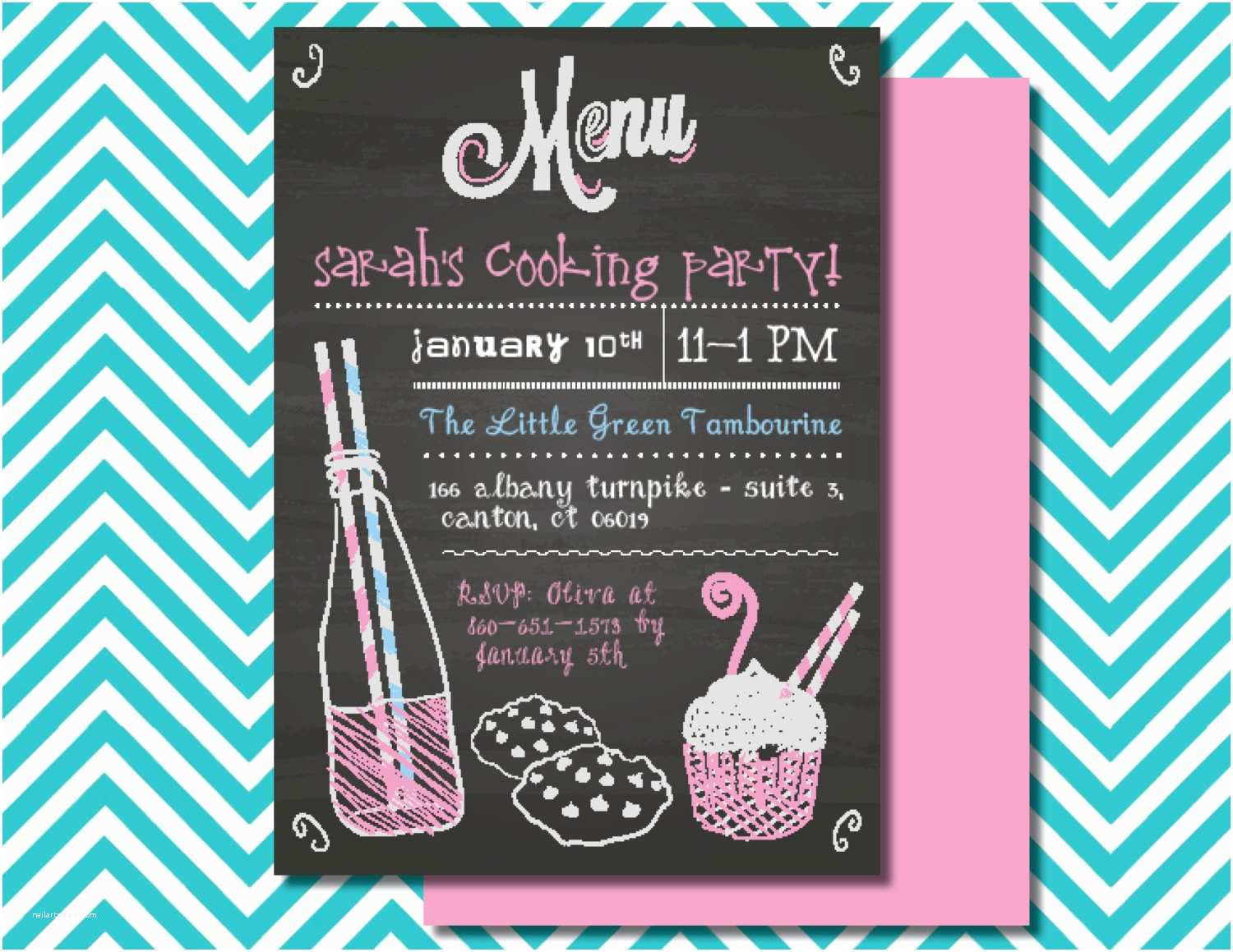 Cooking Party Invitations Cooking Party Invitation Kids Baking Party Children S