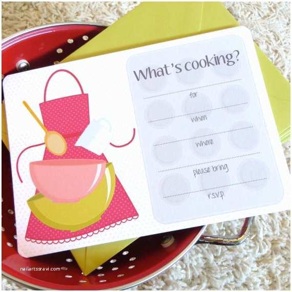 Cooking Party Invitations Cooking Party Invitations Kitchen Bridal Shower