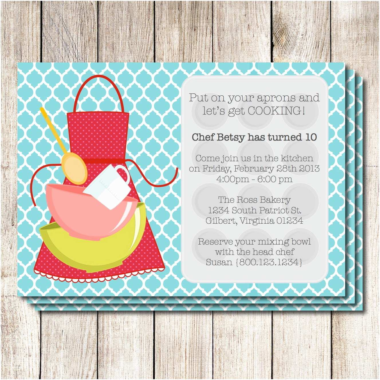 Cooking Party Invitations Cooking Party Invitations Printable Free