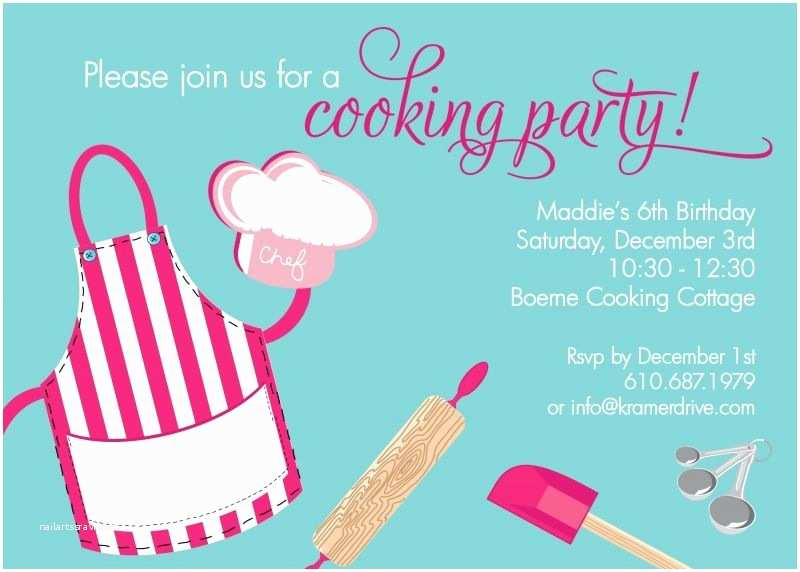 Cooking Party Invitations Cooking Party Maya S Birthday Pinterest