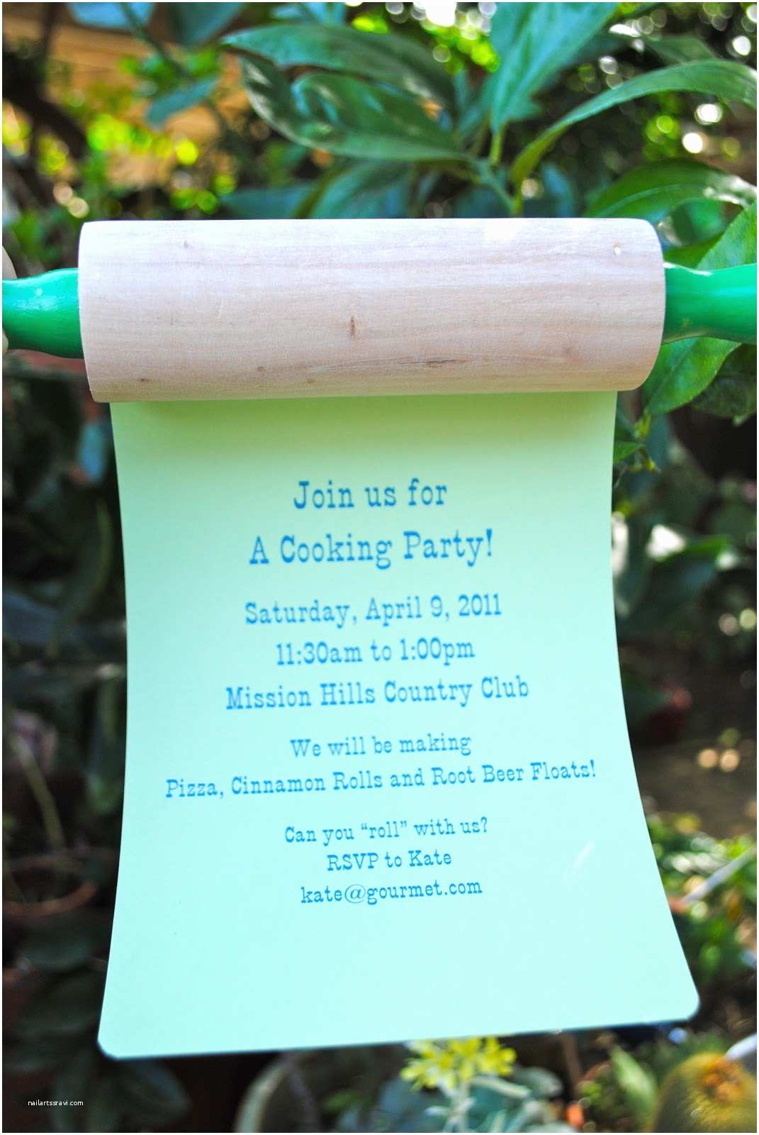 "Cooking Party Invitations Jac O Lyn Murphy ""roll with Us"" Cooking Party"