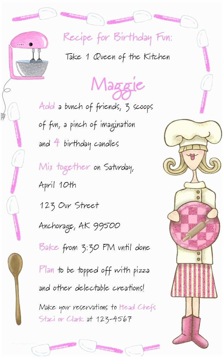 Cooking Party Invitations Party Invitation Quotes Quotesgram