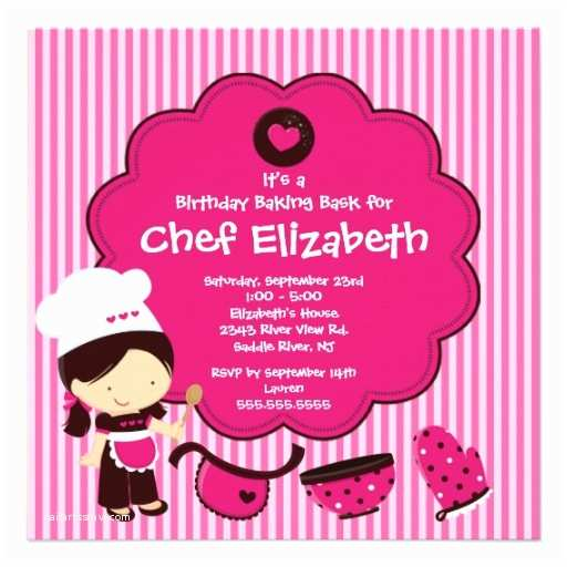 Cooking Party Invitations Print Birthday Invitations for Free