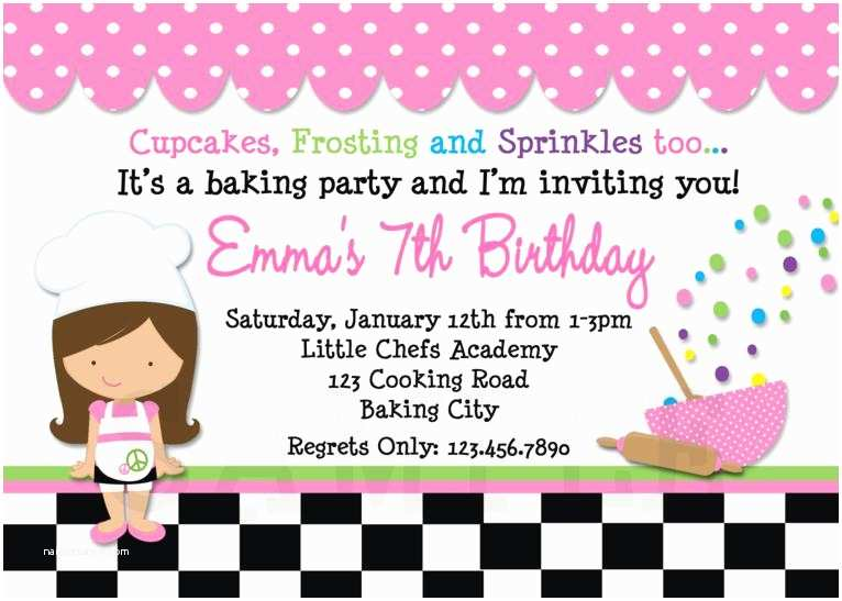 Cooking Party Invitations Printable Birthday Invitations Cooking Birthday Party